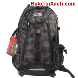 BL005-Balo The North Face (Sugrge - Caro trắng đen)